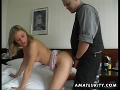 Amateur fuck partner masturbates and bangs with cumshot