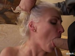 Sensual bride Lexi Swallow slurps on this tasty pecker
