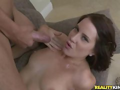Sizzling Kylie Sky gets her face plastered with cum