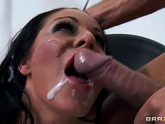 Saucy Tia Layne gets covered in tasty shaft cream
