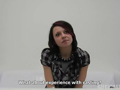CZECH CASTING - RENATA Licking ON A Fat dick