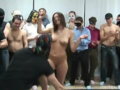 Big titted Lassie AT CZECH GANG BANG PARTY HAVING FUN