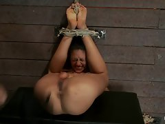 Raunchy Layla Storm gets tied up & her dirty ass whipped