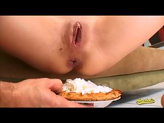 Deepthroat and wild asshole sex ends in cream pie