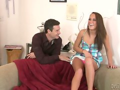Babysitter Haley Racy caresses off her raunchy boss