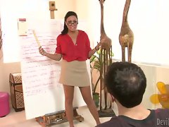 Sensual teacher Tiffany Brookes services a student