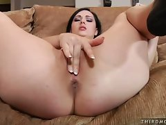 Filthy as hell Angell Summers fingers her pantie pot