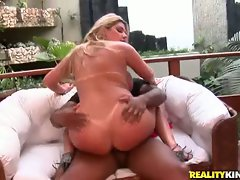 charming blondie rides her dripping twat on a enormous dick