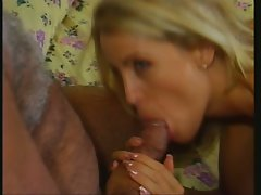 Blistering Tabitha Stevens drools on this penis