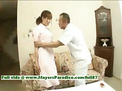 Myuu Hasegawa innocent comely asian chick gets teased