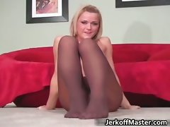 Seductive and sexual blond lady stripping part5