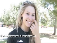 Alanna _ Amateur soccer lady flashing her hooters in public