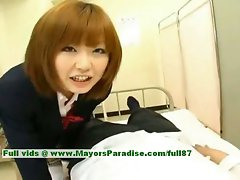 Rio Hamasaki innocent alluring Seductive japanese young lady teasing a man
