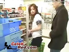 Seductive japanese Young woman Gets Molested In A Store Full Of People Asian