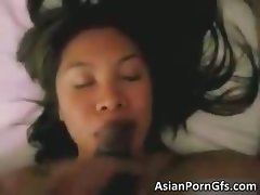 Sensual luscious attractive asian slutty girl licking part4