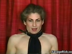 Kinky Cougar is sex slave in strange bondage part5