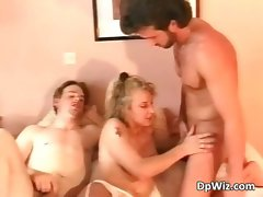 Attractive blond hussy blows strong throbbing dick part2