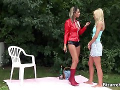 Great lewd blond chick gets slit fondled part4