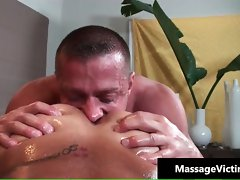 Attractive 19 years old gay comes for a massage part1