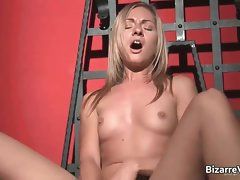 Alluring and kinky blond Greta stripping part2