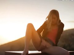 Sunset in Malibu in art undress movie