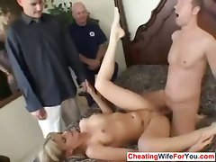 Gaunt filthy slutty wife grinded by stranger