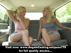 Perfect tempting tempting blonde lezzy randy chicks undressing and kissing