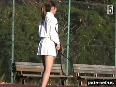 (DLEJKT-01) Sports Voyeurism. Tennis pulse upskirt 1