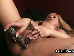 Raunchy buxom cougar goes wild rubber toy part1