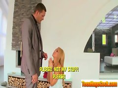 Enormous dick Screwing Blazing teen Stunning Lassie clip-01
