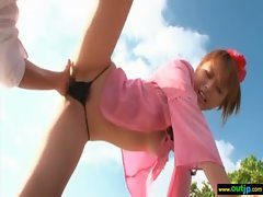 Outdoor Sex Love Sensual japanese Slutty girl Sensual Young woman clip-04