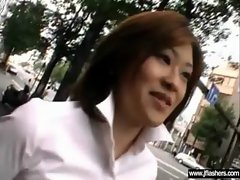 Sexual Seductive japanese Babe Flashing And Grinding clip-17
