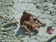 Beach giving blowjob voyeur video