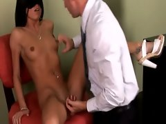 Eva ellington fellatio on shaft for her doctor