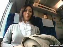 Asian Lass Flashing Body And Screwing Rough movie-08