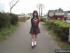 Asian Lass Flashing Body And Shagging Rough movie-23