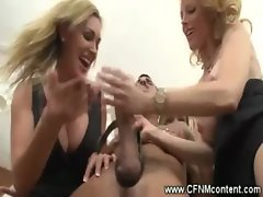 Alluring CFNM Housewifes accost their waiter