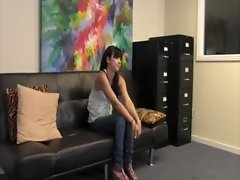 Great randy teen loveliness Mandy Skyes first anus casting session