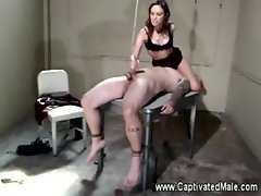 Amber rayne teasing her slave while she pleasures herself