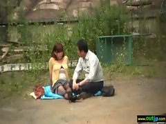 Outdoor Horny Sex Love Asian Sensual Chick movie-22