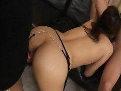 Gangbang with luxury korean butthole whore