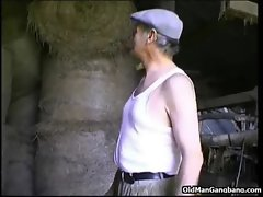 City girlie banged by older farmer