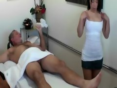 Asian masseuse licking her client and cant get enough