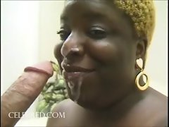 Kantiloupes Extra Big Slutty ebony Centerfold Eats Penis Cock sucking Facial Cumshot Handjobs