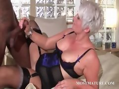 Sensual puma blowing huge ebony shaft