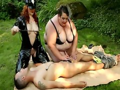 FEMDOM BDSM plumpers stroking and banging subject