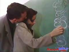 Attractive teacher get banged brutal in classroom