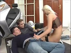 Stevie Perfect Studs Double Penetrate Obscene Biker Starlet Rectal Butt To Mouth Cock sucking Cum Swallowing Doub