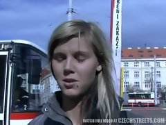 CZECH STREETS - Ilona receives cash for public sex