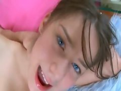 This sensual russian sassy teen is born to enjoyment